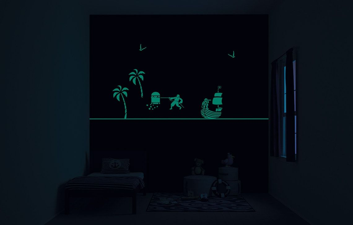 ColourDrive-Asian Paints Treasure Seekers - Night View Kids Decor