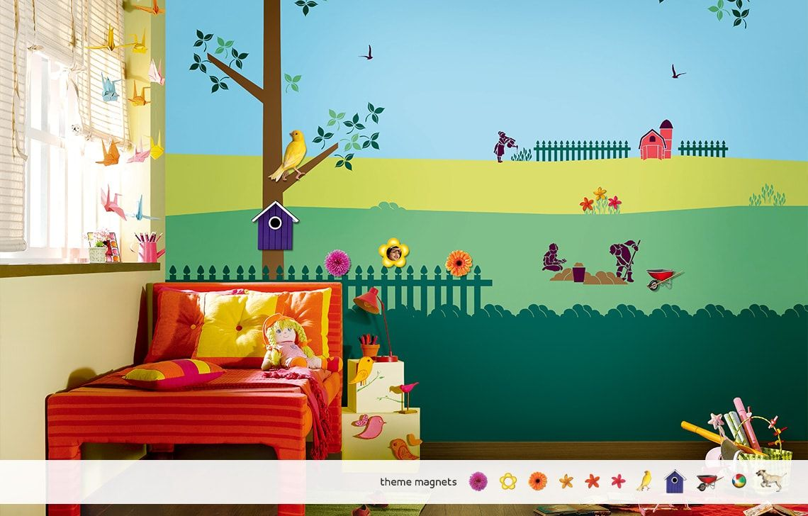 By colourdrive kid 39 s room wall painting design ideas - Kids room paint ideas ...
