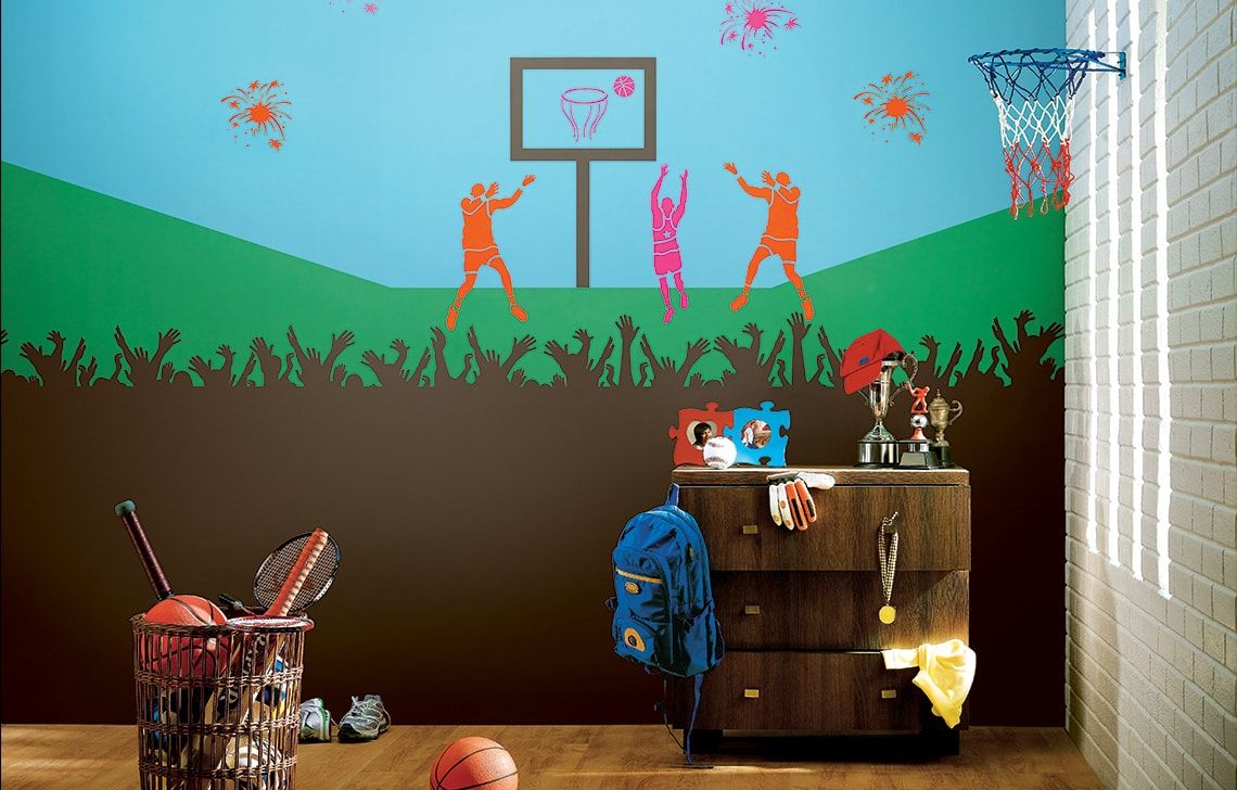 ColourDrive-Asian Paint Slam Dunk - Day View Kids Decor