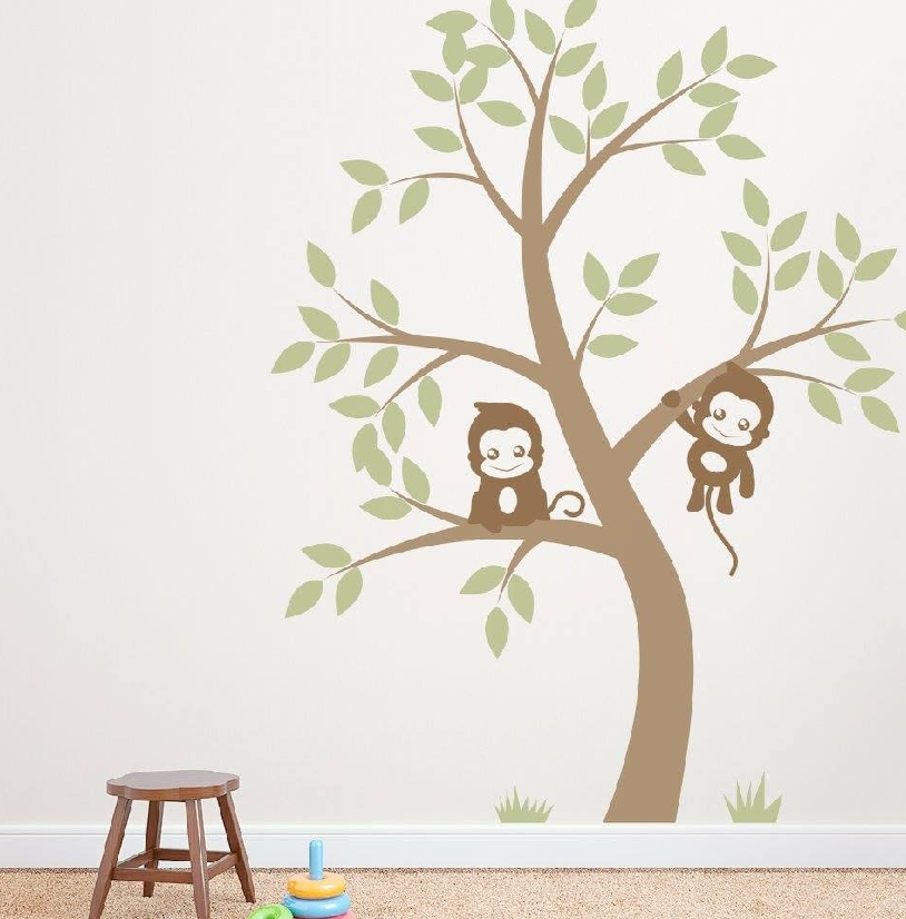 ColourDrive-ColourDrive Tree Design for kids Room Stencil