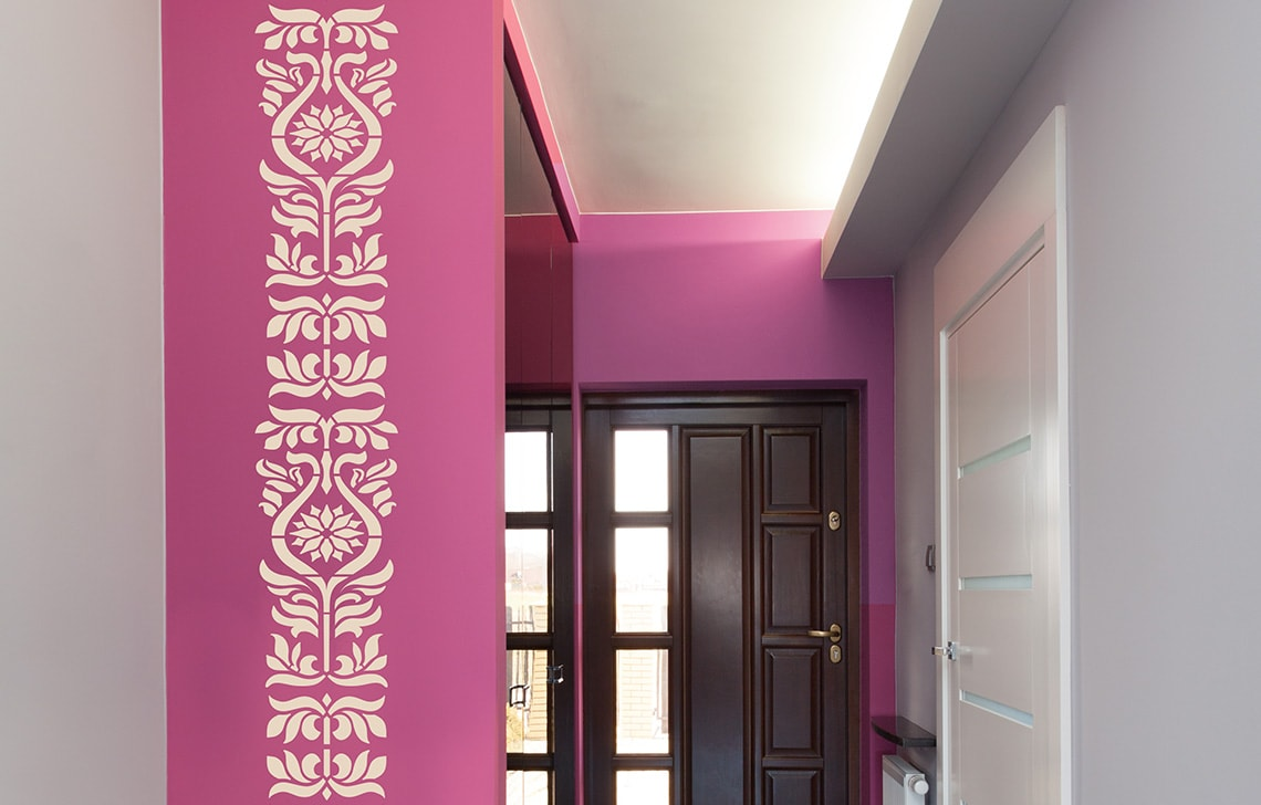 ColourDrive-Asian Paint Eastern Ornaments Stencil