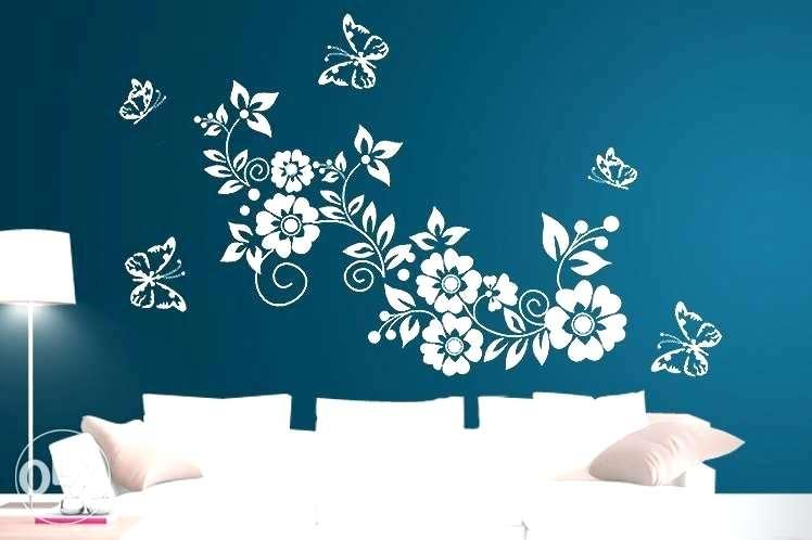 Colourdrive Floral Design Stencil By Colourdrive Wall