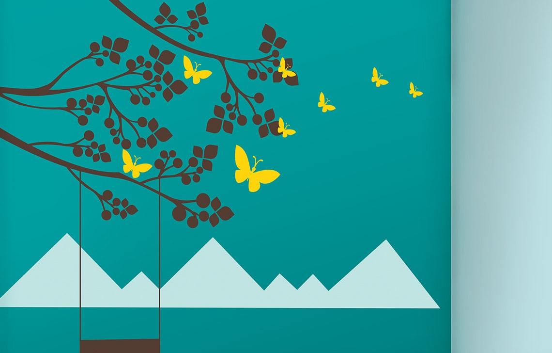 ColourDrive-Asian Paint Dreams of Paradise Stencil