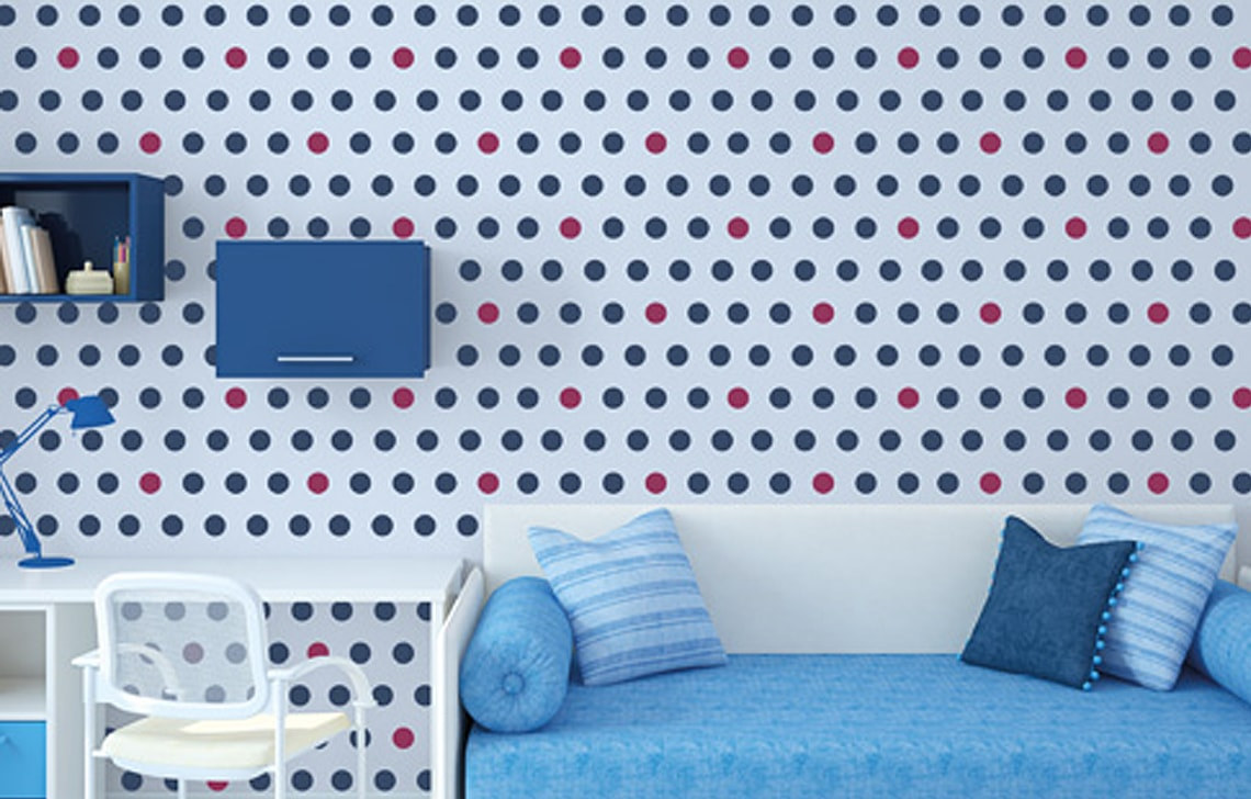 ColourDrive-Asian Paint Polka Dots Stencil