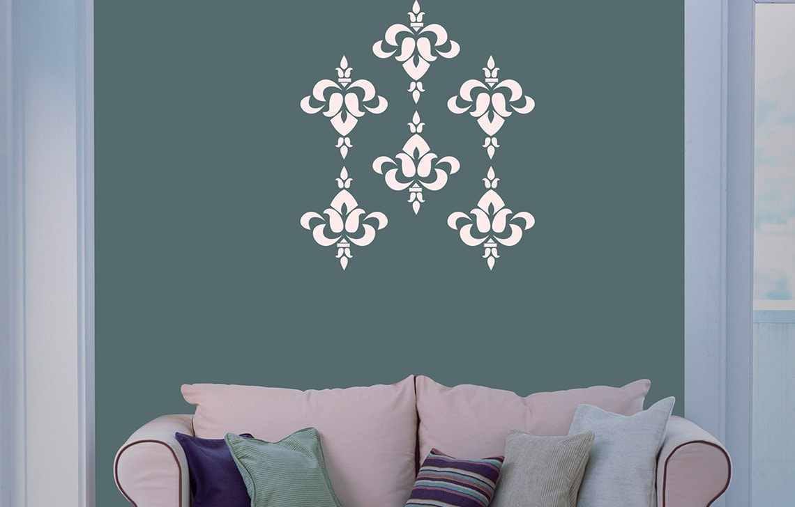 ColourDrive-Asian Paint Brocade Stencil