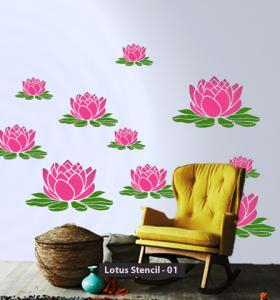 ColourDrive-Asian Paint Lotus Stencil