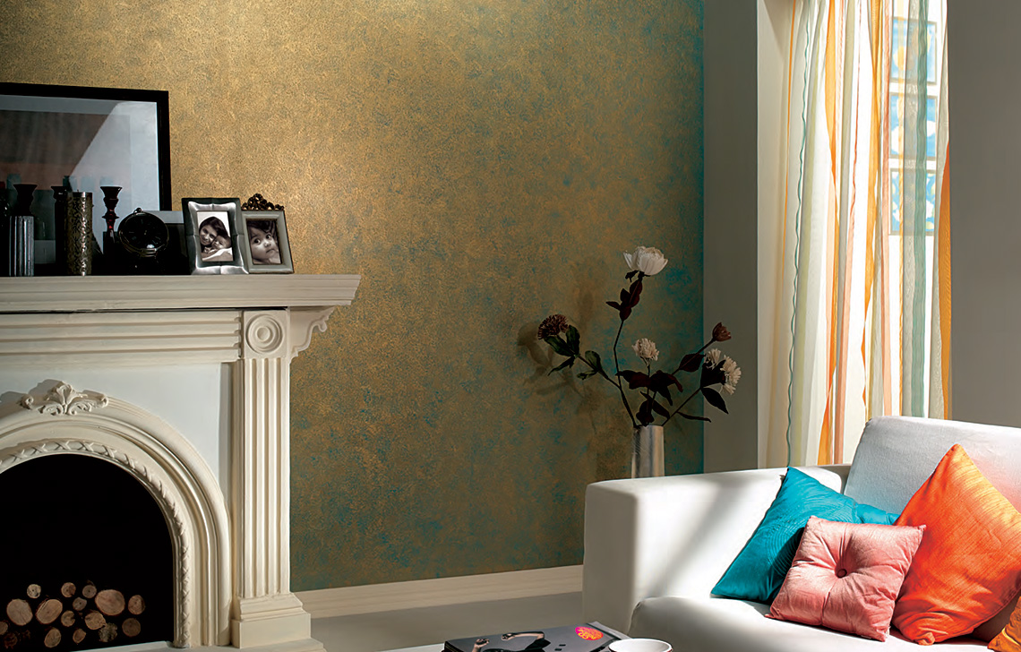 Asian Paints Royale Play  Sponging wall texture painting design for Living Room,Study Room