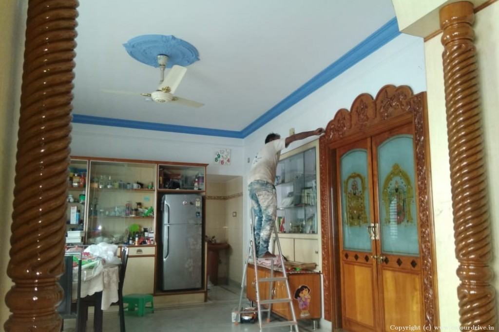 Polish Home Painting Project at KR Layout, JP Nagar , Bangalore