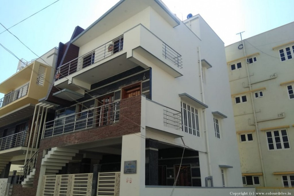 Exterior Home Painting Project at Vishwapriya Nagar,, Begur Road, Bangalore