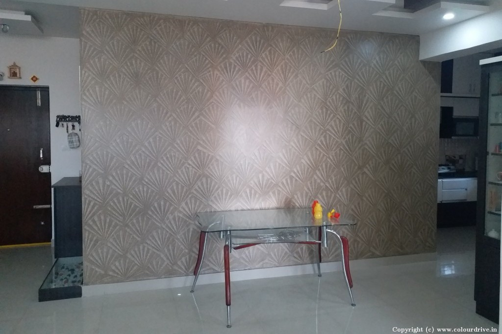 Texture Home Painting Project at  Sirinivasa Classic Apartment, Kaikondrahalli,, Sarjapur road, Bangalore