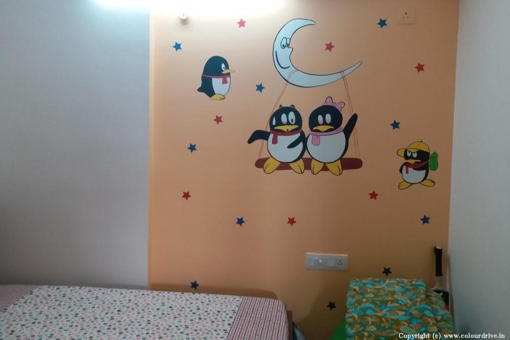 Kids Decor Home Painting Project at  Sirinivasa Classic Apartment, Kaikondrahalli,, Sarjapur road, Bangalore