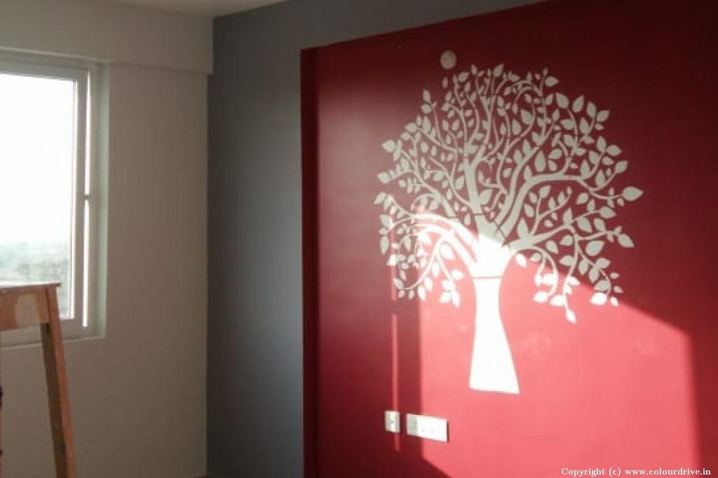 Interior Home Painting Project at  Ramky one kosmos Apartment,, Nallagandla, serilingampally , Hyderabad