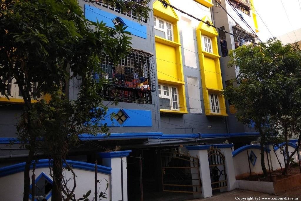 Exterior Home Painting Project at Bindu sadan Apartment, ,  Pragathi Nagar,, Hyderabad