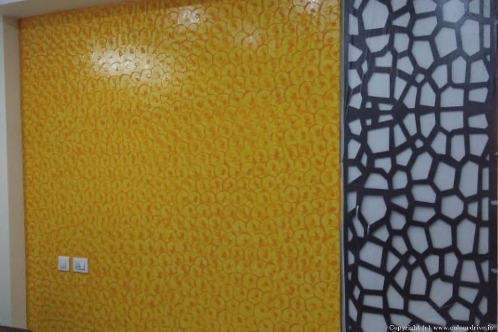 Texture Home Painting Project at Luxor Apartment, , Masjid banda road, Kondapur, Hyderabad