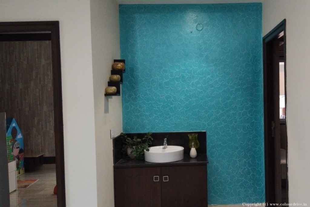 Texture Home Painting Project at  Souhiti Legacy Manor Apartment, Kakatiya hills, Kavuri Hills, Madhapur,, Hyderabad
