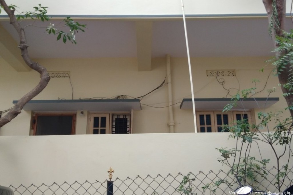 Exterior Home Painting Project at Sainik Nagar,, RK Puram,  Neredmet, Secundrabad,, Hyderabad