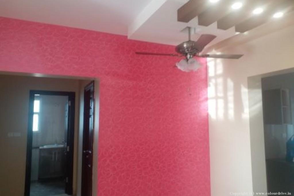 False Ceiling Home Painting Project at  Shobha Silicon Oasis apartment, Basapura, Hosa road,, Electronic City , Bangalore