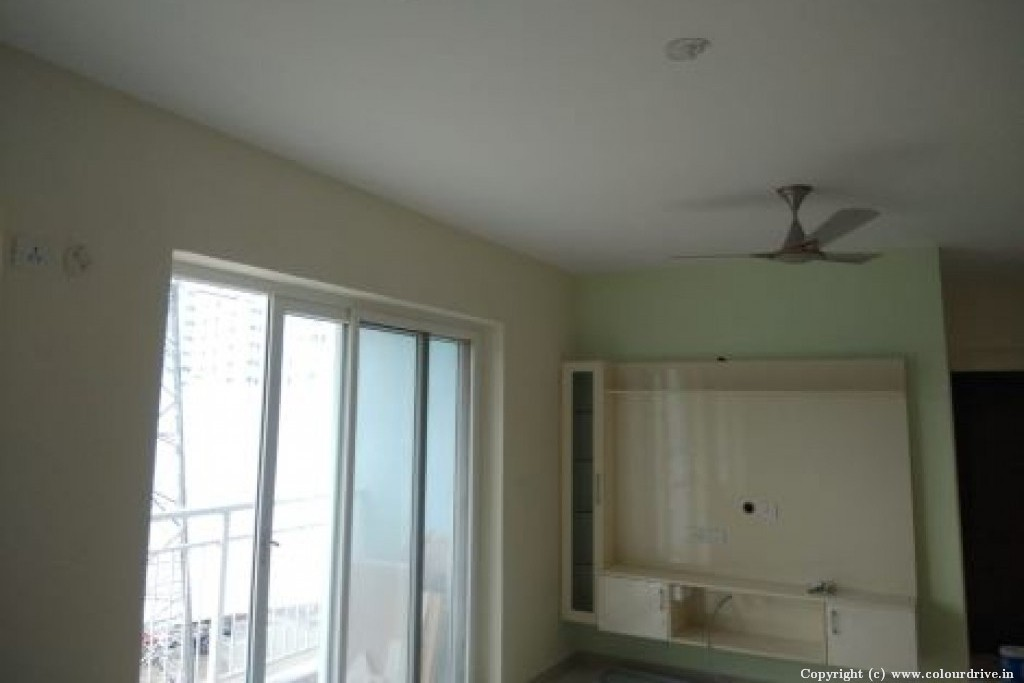 Interior Home Painting Project at Blue Waters by SJR Primecorp, Silver County Road, Hosa Road, Bangalore