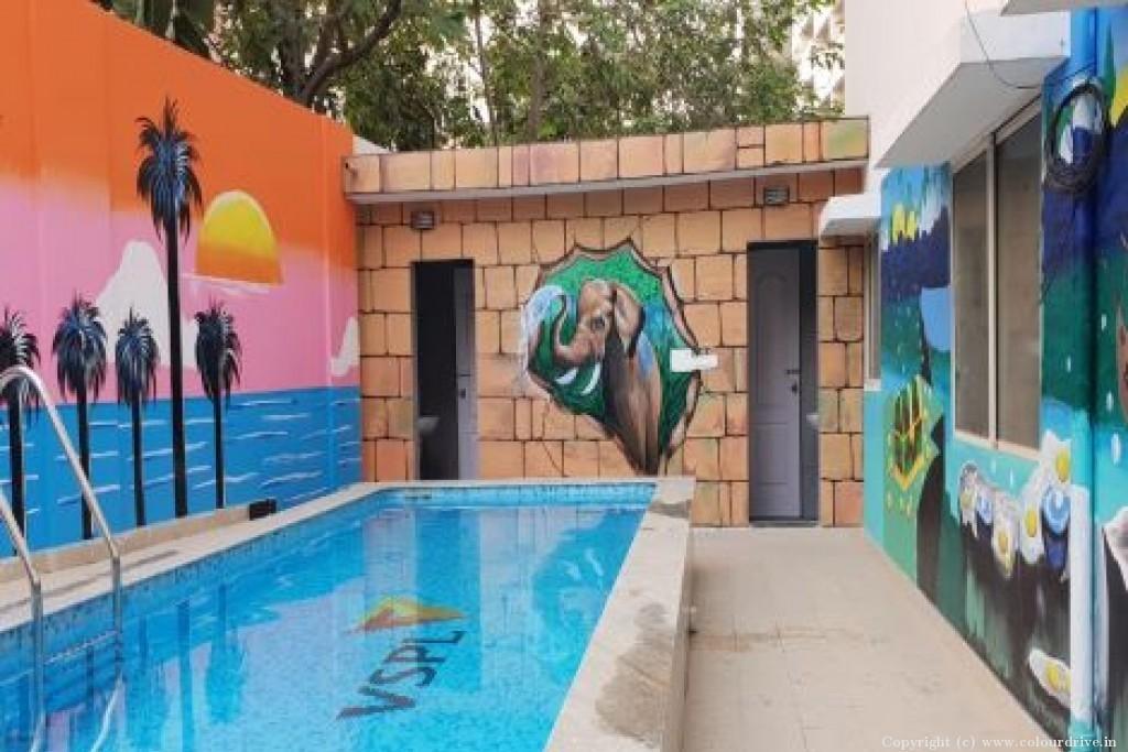 Free Hand Art Home Painting Project at VSPL Metropolish, Pipeline road, Yashwantpur, Bangalore