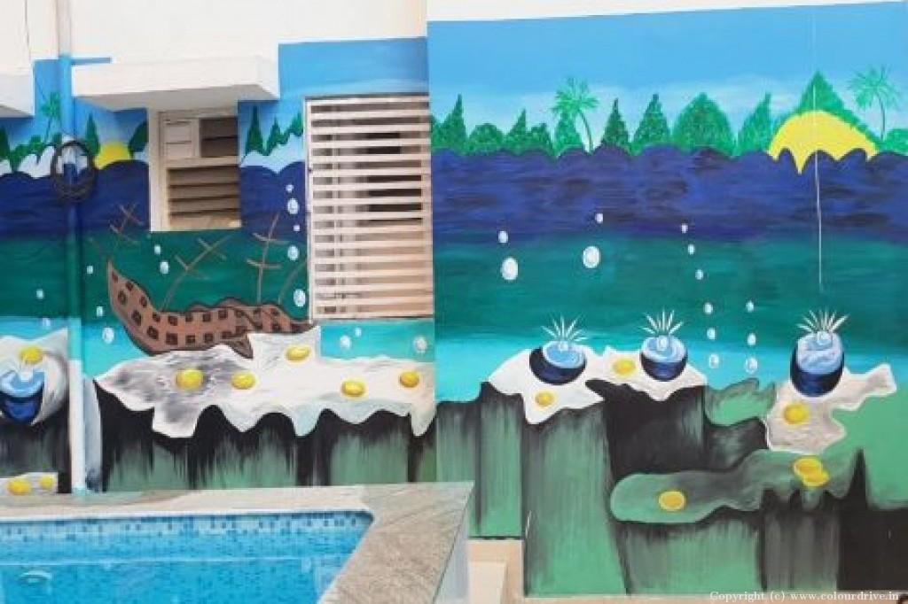 Free Hand Art,  Kids Decor Home Painting Project at VSPL Metropolish, Pipeline road, Yashwantpur, Bangalore