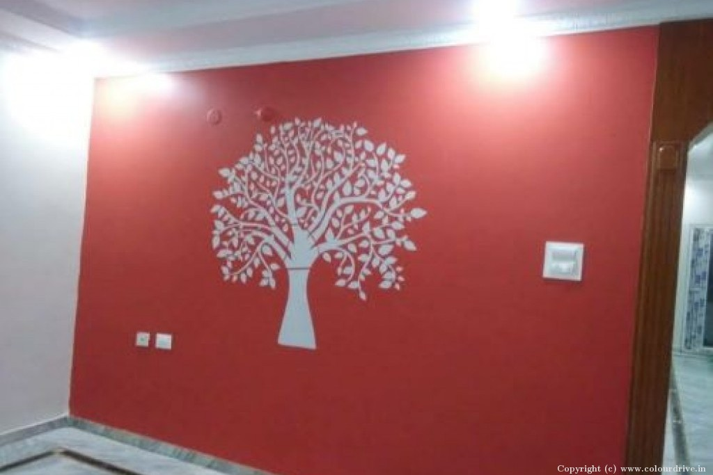 Stencil Home Painting Project at Kamalakar rao classic Colony, Vivekananda Nagar, Kukatpally, Hyderabad