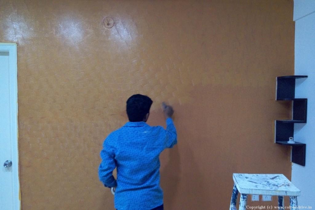 Texture Home Painting Project at Varthur, Varthur Main Road, Bangalore