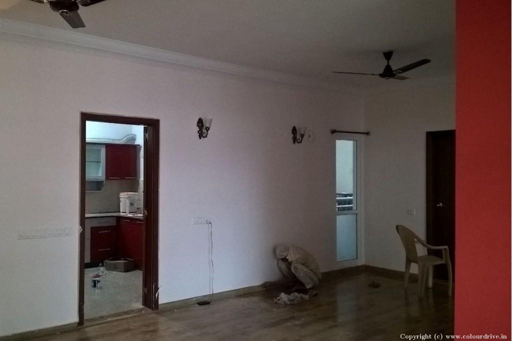 Interior Painting Home Painting Project at Prestige Shanti Niketan, Whitefield, Bangalore