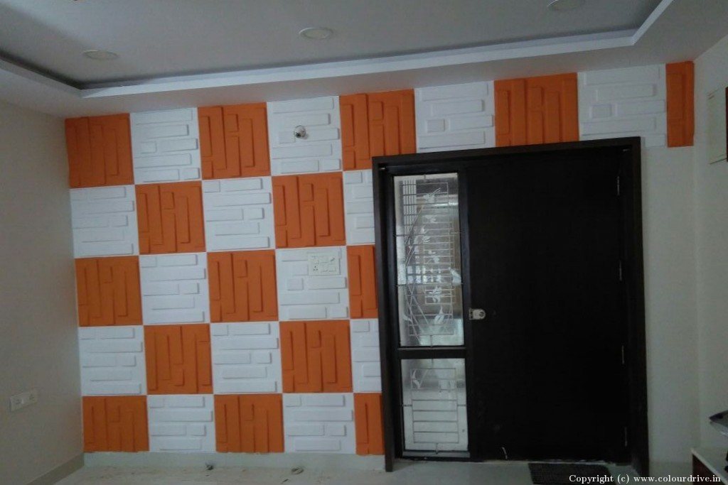 Texture Home Painting Project at Alkapoor Township, Manikonda, Hyderabad