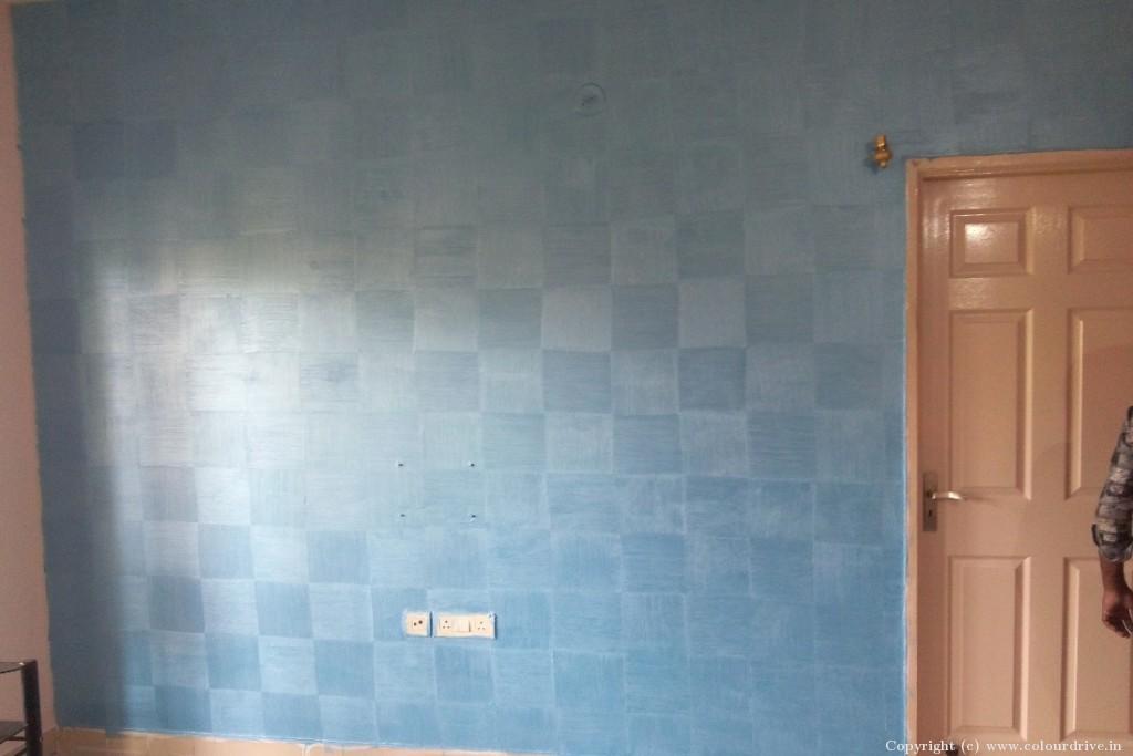Texture Home Painting Project at Raj Peradise Apartment, Bilekahalli, Bannerghatta Road, Bangalore