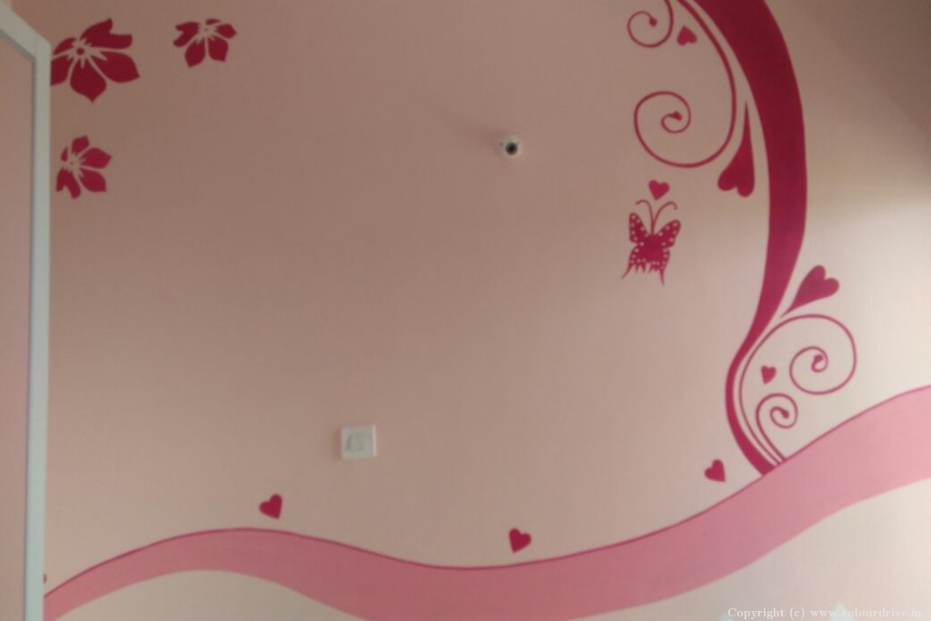 Stencil Home Painting Project at Aparna CyberZon, Nallagandla, Chanda Nagar, Hyderabad