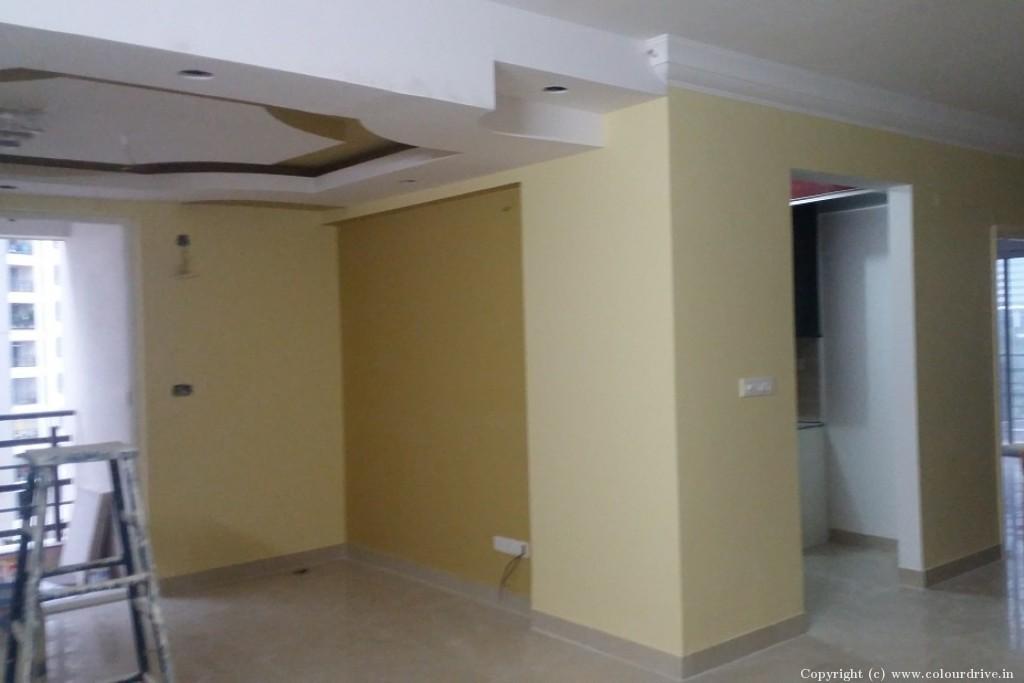 Recent Home Painting Project At Salarpuria Senorita Apartment Kasavanahalli Sarjapur Road Bangalore By Colourdrive