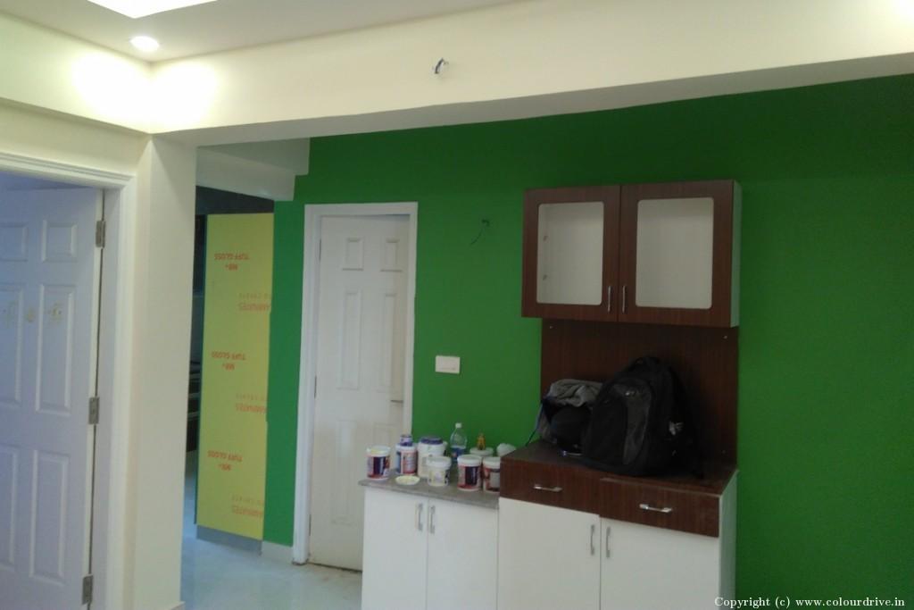 Interior Home Painting Project at Mahaveer Riviera Apartment, JP Nagar, Bangalore
