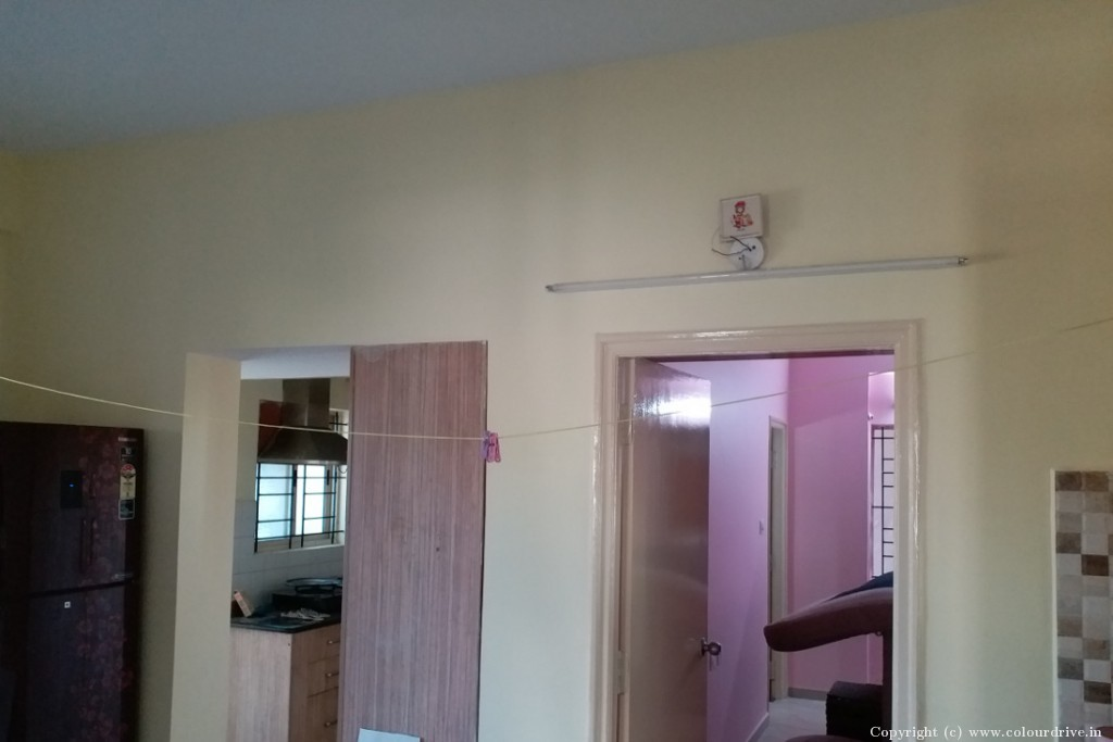 Interior Home Painting Project at DSR Green Vista Apartment, ITPL, Whitefield, Bangalore