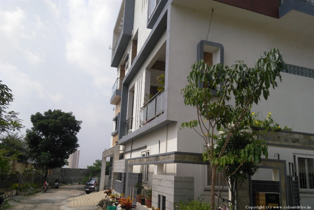 Exterior Home Painting Project at Narayan Solutions, Yelenahalli, Akshaya Nagar, Begur Road, Bommanahalli, Bangalore