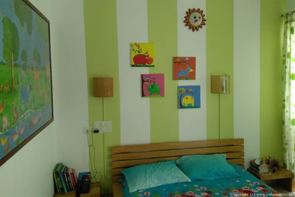 Stencil Home Painting Project at Klassic Benchmark Apartment, Doddakammanahalli, Bannerghatta Road, Bangalore